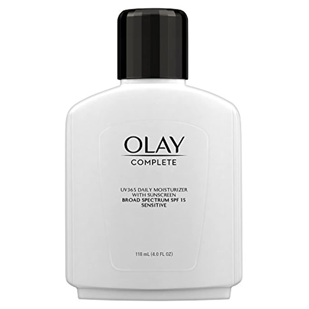 柔らかい宿泊経済的Olay Complete All Day Moisture Lotion UV Defense SPF 15, Sensitive Skin, 4 fl oz (118 ml) (1 pack) (並行輸入品)