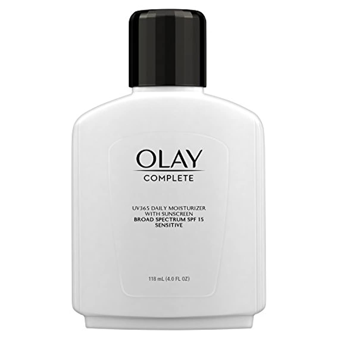 エンドウ反論容赦ないOlay Complete All Day Moisture Lotion UV Defense SPF 15, Sensitive Skin, 4 fl oz (118 ml) (1 pack) (並行輸入品)