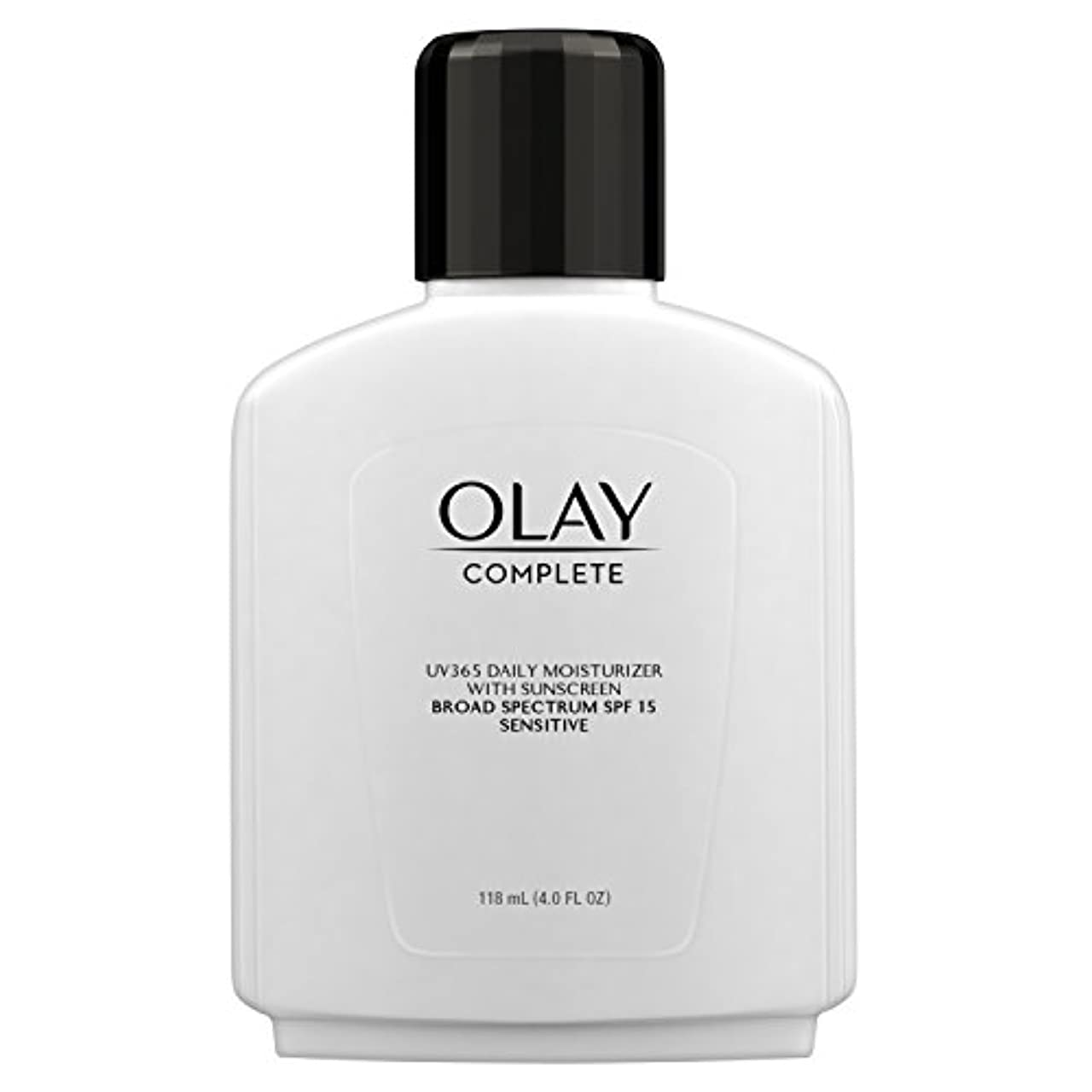 味狂う暗いOlay Complete All Day Moisture Lotion UV Defense SPF 15, Sensitive Skin, 4 fl oz (118 ml) (1 pack) (並行輸入品)
