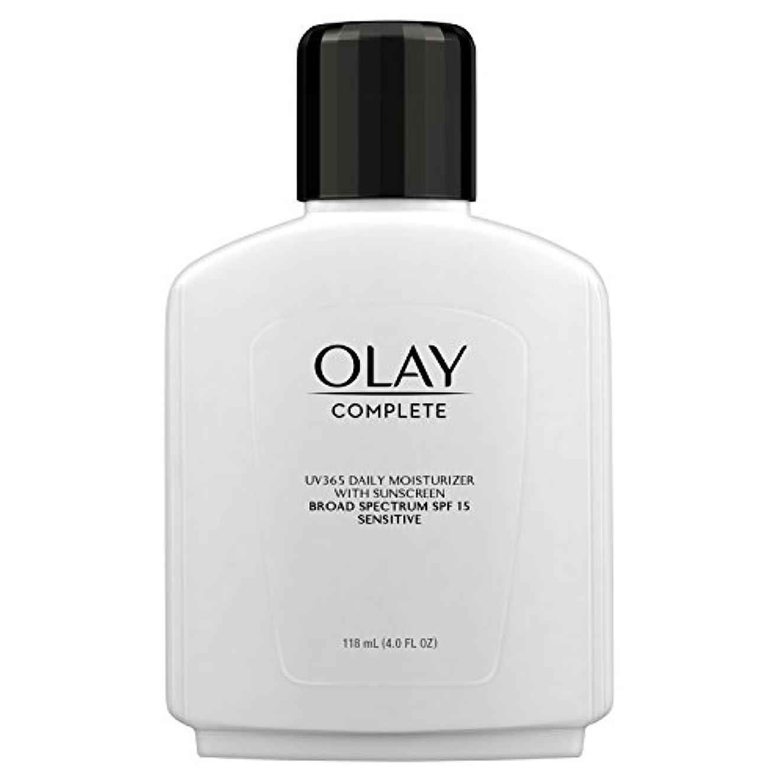 付添人粘り強いビーズOlay Complete All Day Moisture Lotion UV Defense SPF 15, Sensitive Skin, 4 fl oz (118 ml) (1 pack) (並行輸入品)