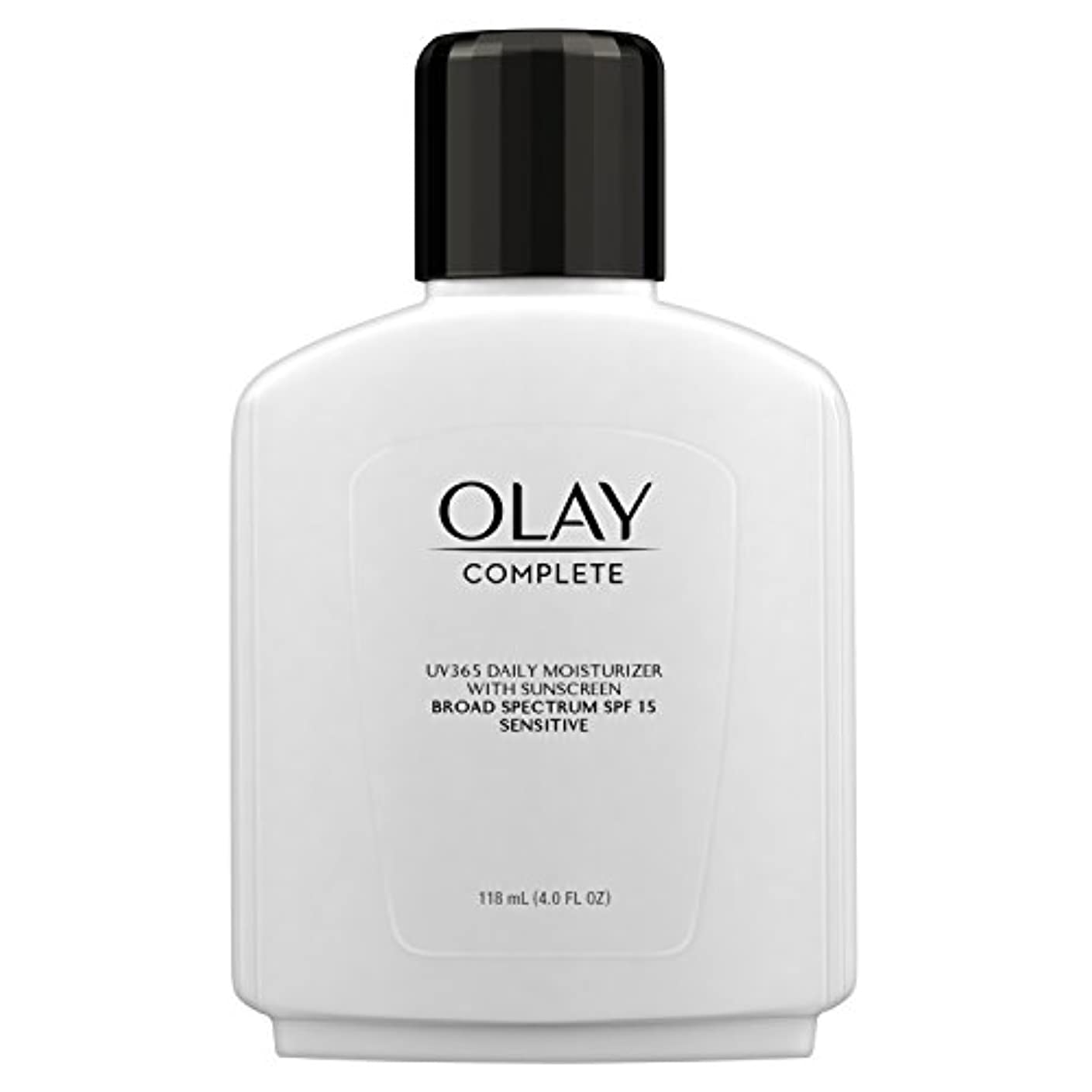 空港見えるドラッグOlay Complete All Day Moisture Lotion UV Defense SPF 15, Sensitive Skin, 4 fl oz (118 ml) (1 pack) (並行輸入品)