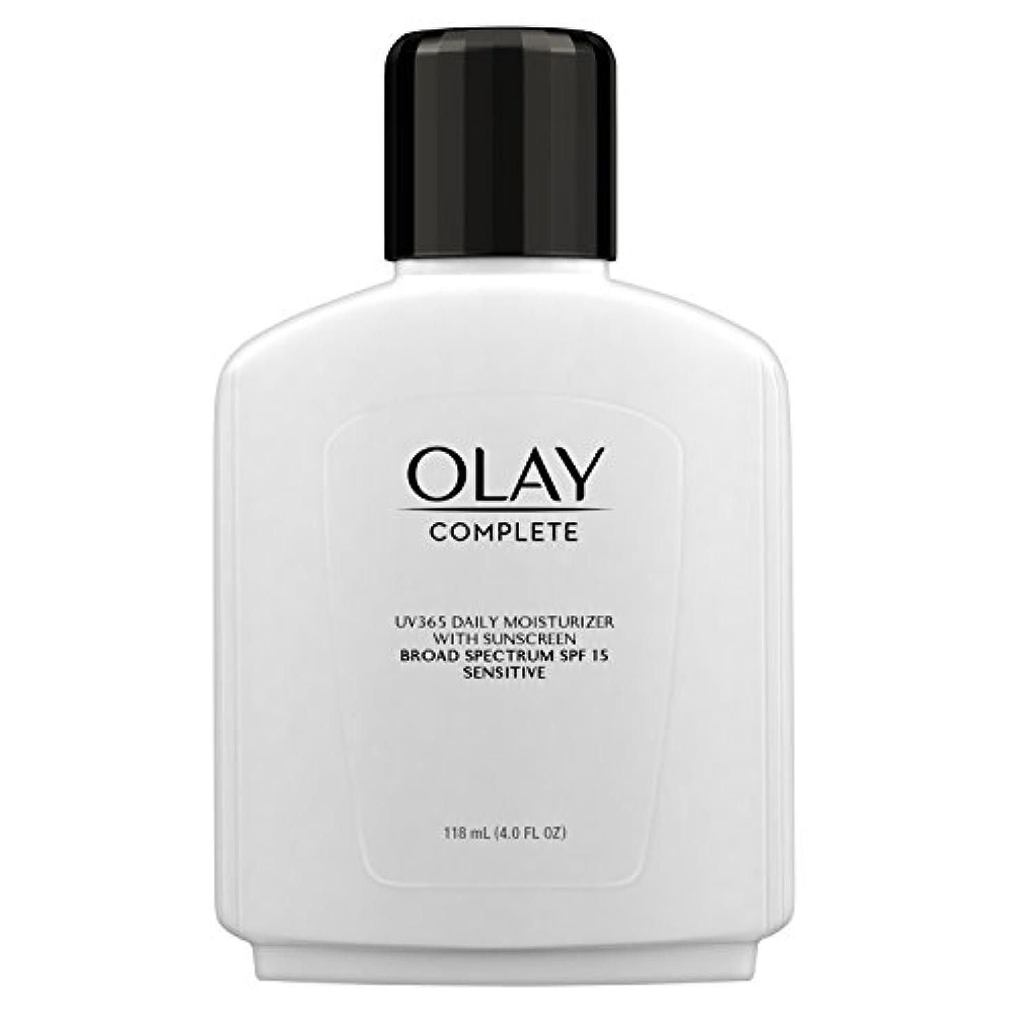 咽頭忌まわしいぐるぐるOlay Complete All Day Moisture Lotion UV Defense SPF 15, Sensitive Skin, 4 fl oz (118 ml) (1 pack) (並行輸入品)