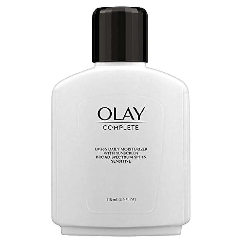 滞在百万徹底Olay Complete All Day Moisture Lotion UV Defense SPF 15, Sensitive Skin, 4 fl oz (118 ml) (1 pack) (並行輸入品)