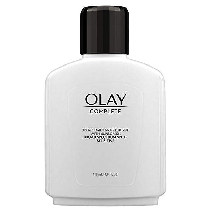 拡張望ましいはっきりしないOlay Complete All Day Moisture Lotion UV Defense SPF 15, Sensitive Skin, 4 fl oz (118 ml) (1 pack) (並行輸入品)