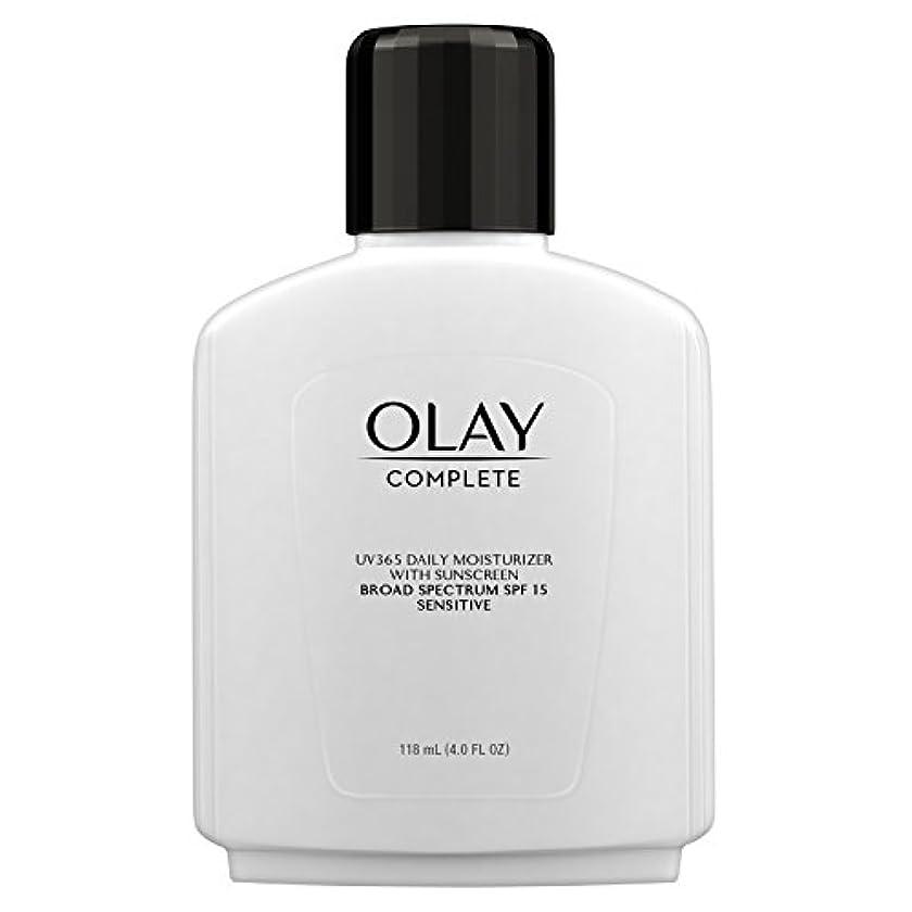 リスキーな注意リア王Olay Complete All Day Moisture Lotion UV Defense SPF 15, Sensitive Skin, 4 fl oz (118 ml) (1 pack) (並行輸入品)