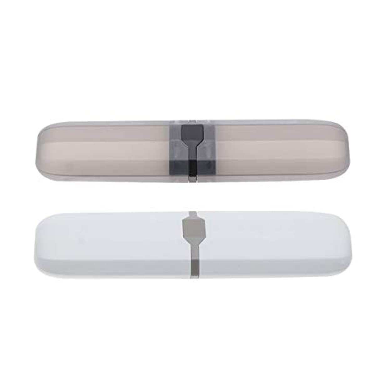 インターネットインタフェース種をまくHealifty 歯ブラシケースポータブル屋外2ピース(ランダムな色)の旅行用歯ブラシ収納ボックス