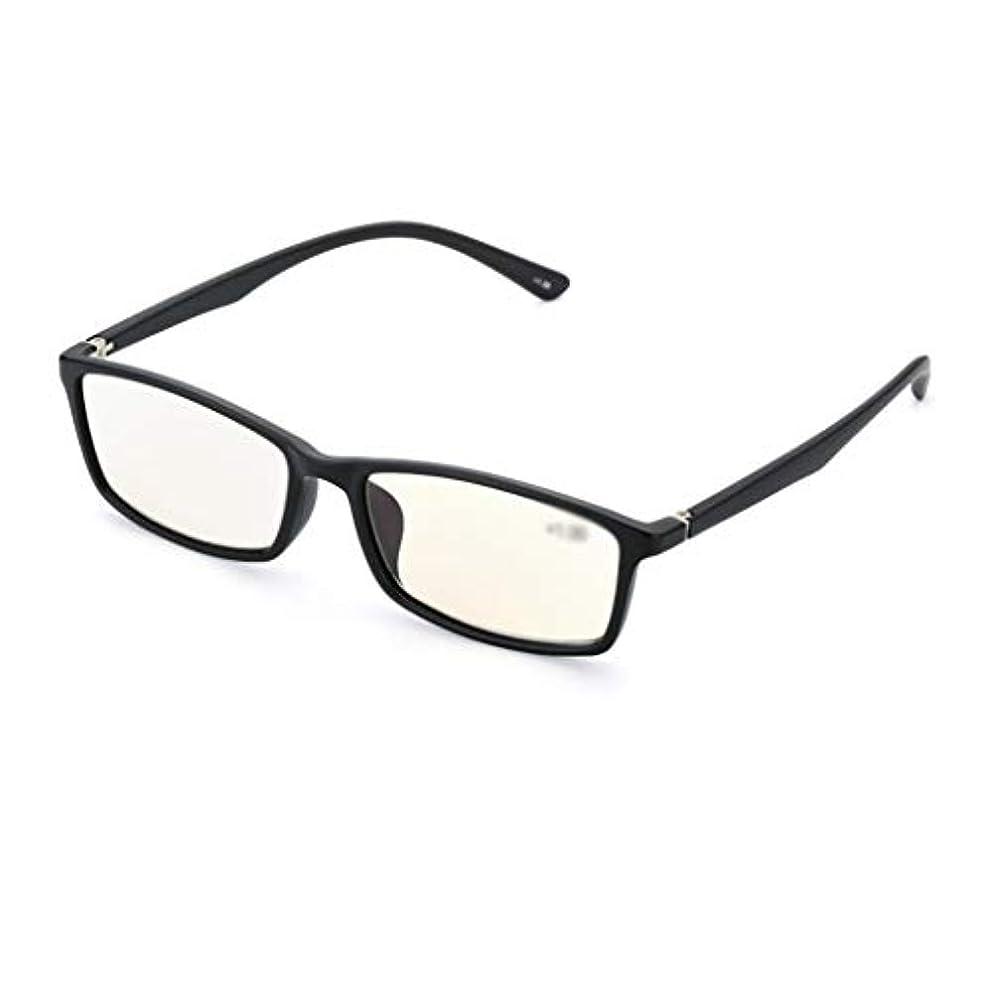 衝突厳しい継続中YiYi老眼鏡 コンピュータメガネUVプロテクション、アンチブルーレイ老眼鏡、超軽量老人メガネ、目の疲れを和らげる(赤、黒)、+ 1.0?+ 3.0ジオプター