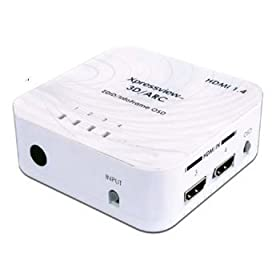 ランサーリンク ARC・3D映像対応 4入力1出力HDMI切替器 HD-41V4