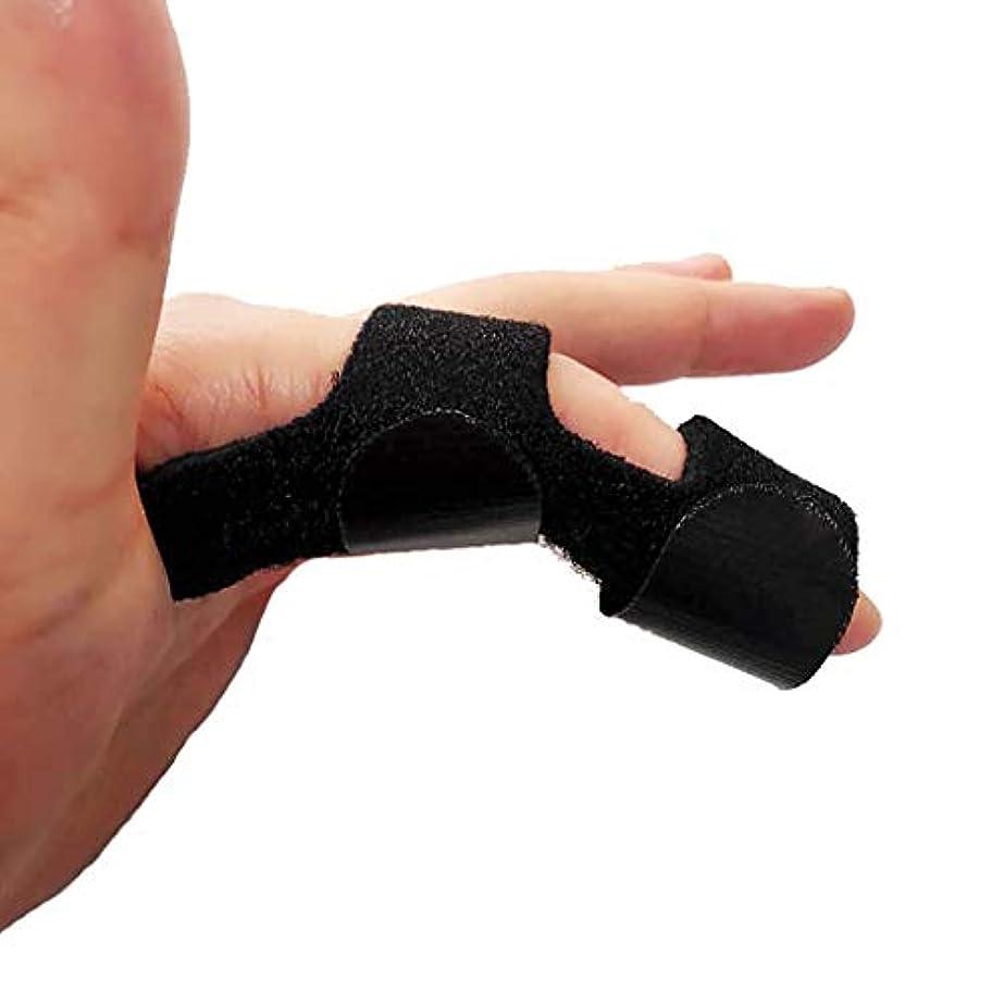 引き金用フィンガーエクステンションスプリントフィンガーマレットフィンガーナックル固定フィンガー骨折創傷術後ケアと痛み緩和フィンガースプリント,黒