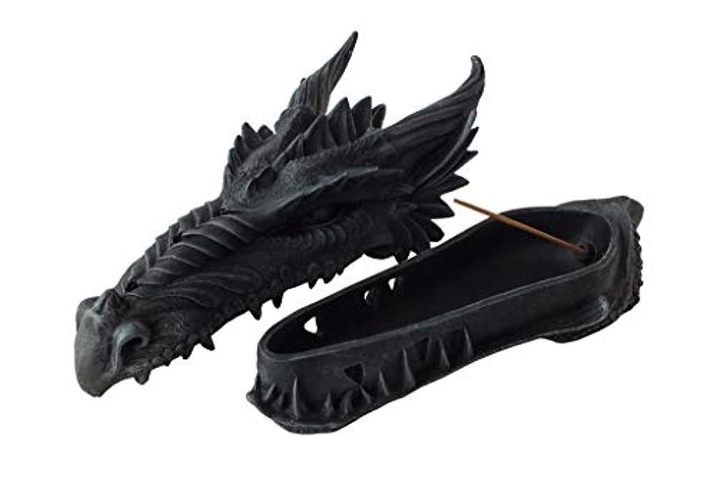 ジュニアミント移民ゴシックドラゴンヘッド インセンスバーナー フィギュア Gothic Dragon Head Incense Burner Figurine