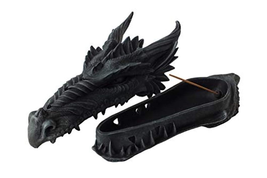 定刻例切り下げゴシックドラゴンヘッド インセンスバーナー フィギュア Gothic Dragon Head Incense Burner Figurine