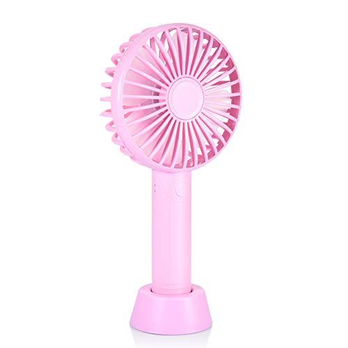 携帯扇風機 卓上扇風機 手持ちファン USB充電式 ミニ 小型 持ち運び ハンディ ポータブル 扇風機 熱中症対策 風量3段階調節 4枚羽根 旅行 花火大会 学校 会社 ピンク