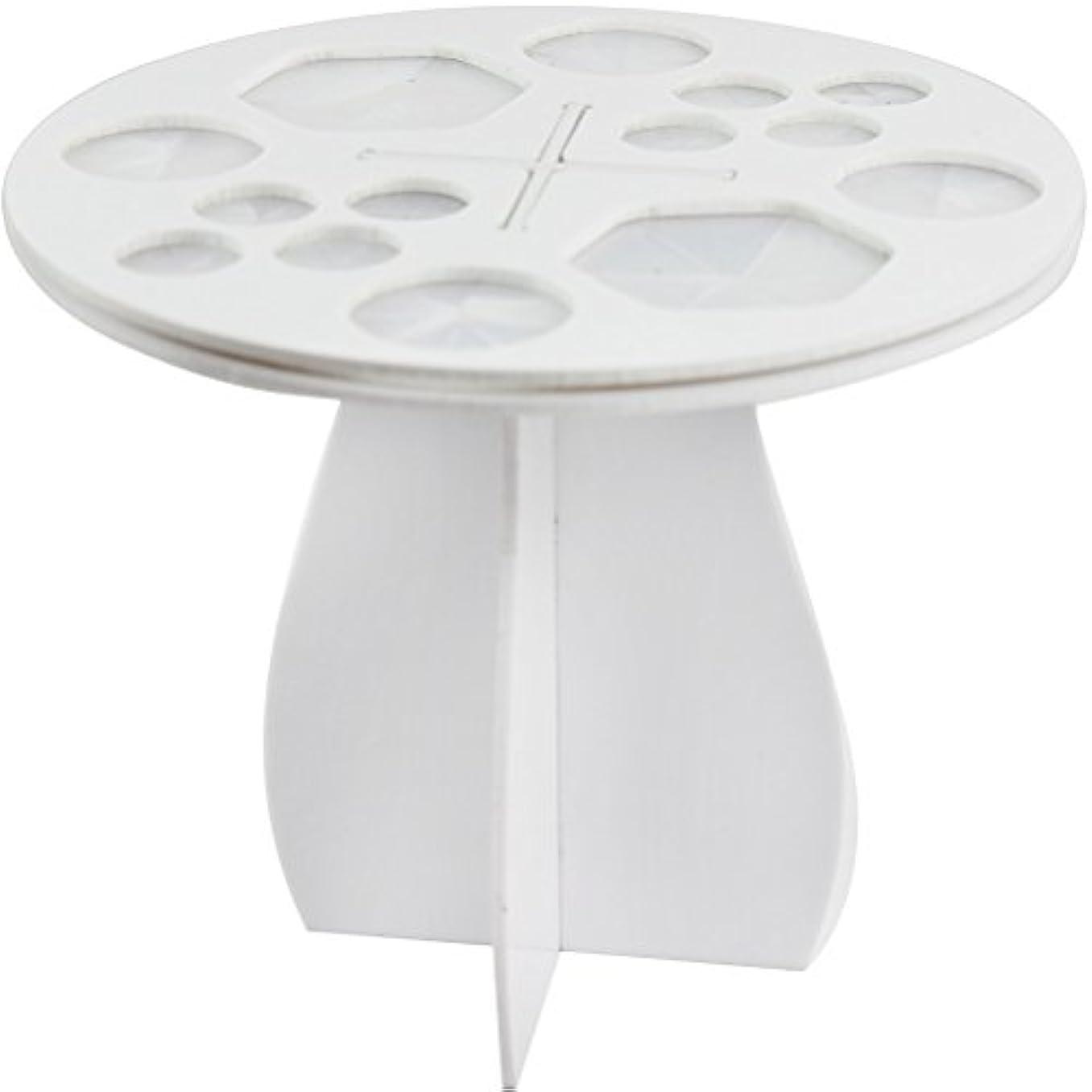 受信機奴隷パラシュート(メイクアップエーシーシー) MakeupAcc メイクブラシ干しラック メイクブラシ収納 アクリル乾かすブラシフレーム メイクアップブラシホルダー  ラウンド型 3色 (白い) [並行輸入品]