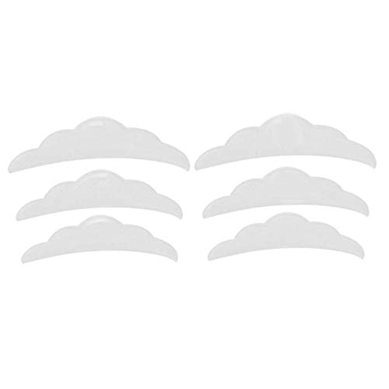 ランドマーク最大の陰謀シリコンまつげリフトリフティングカーラーラッシュシールドパッド小中大