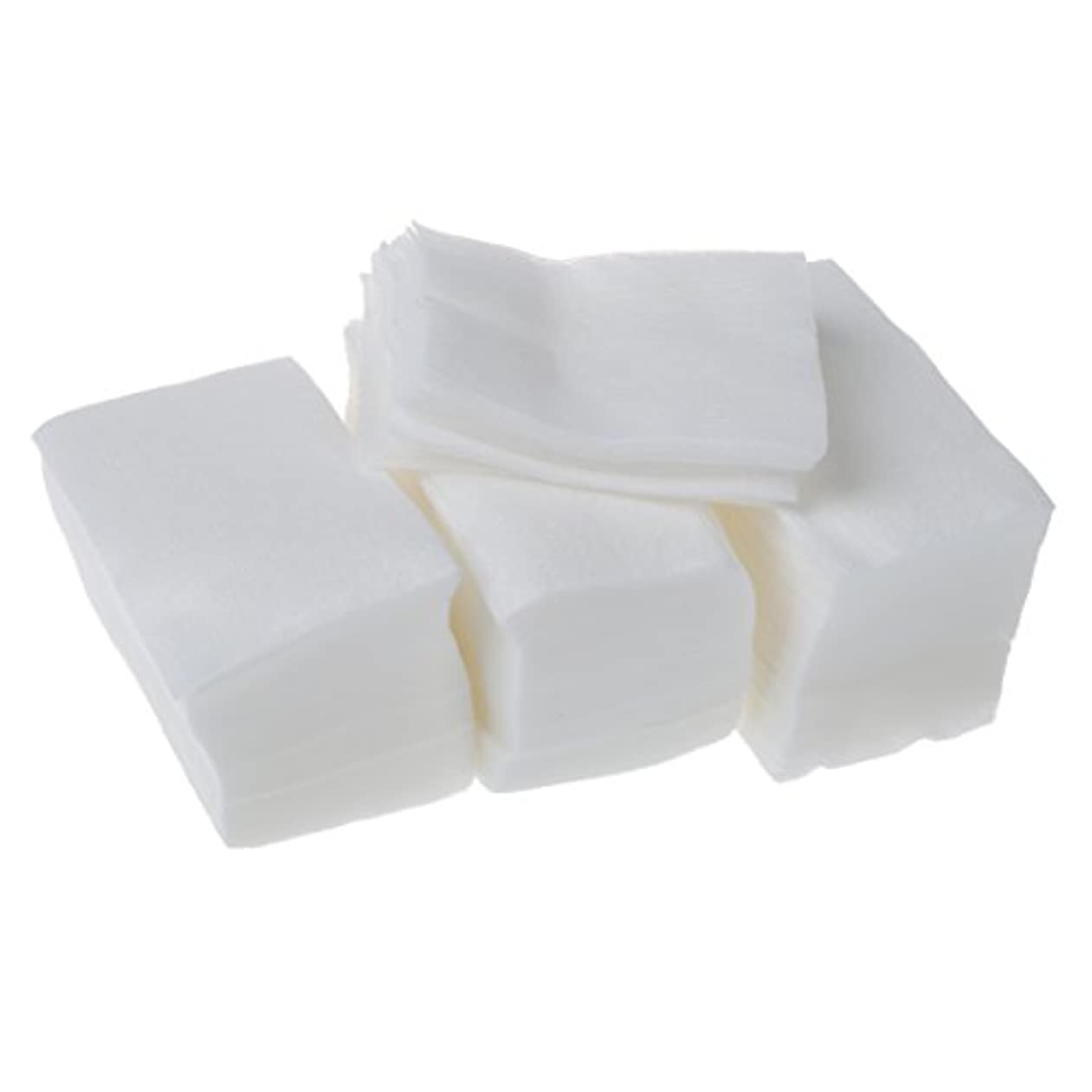 くちばし透ける滴下AFBEST 320個 レディ ホワイト ネイルポリッシュリムーバ 長方形フェイスクリーニング コットンパッド