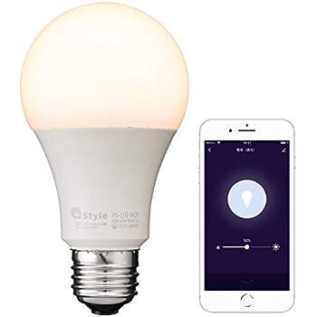 【+Style ORIGINAL】スマートLED電球 E26 (調光) LED電球 60W 810lm スマート 調光 E26 ハブ、ブリッジ不要 日本メーカー製 Amazon Alexa/Google Home 対応