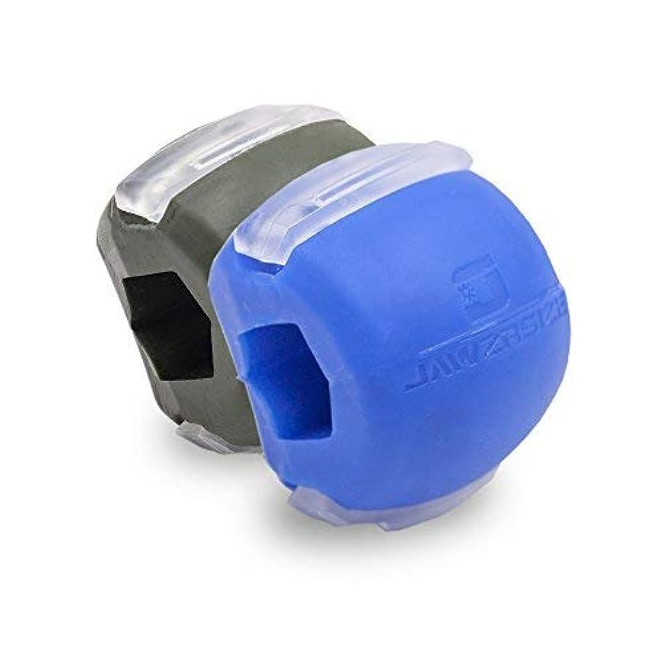 サイトライン神話肘Jawzrsize フェイストナー、ジョーエクササイザ、ネックトーニング装置 (20/50 Lb. 抵抗) 2パック - レベル1と3 - 青/緑