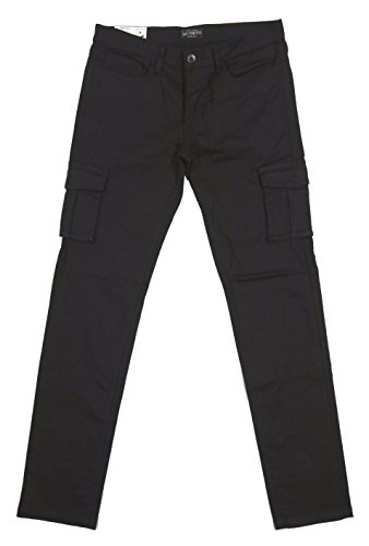 (ビッグスミス)BIG SMITH 日本製 コットンストレッチ素材 6ポケット ミリタリー スリム カーゴパンツ BSM-413 L BLACK(ブラック)