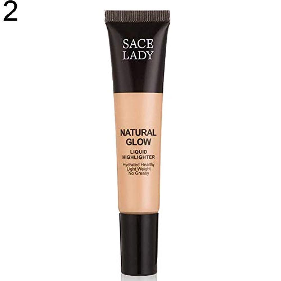 大陸くしゃみお祝いSACE LADY液体蛍光ペン水和非脂っこい化粧顔ブロンザー - 2#