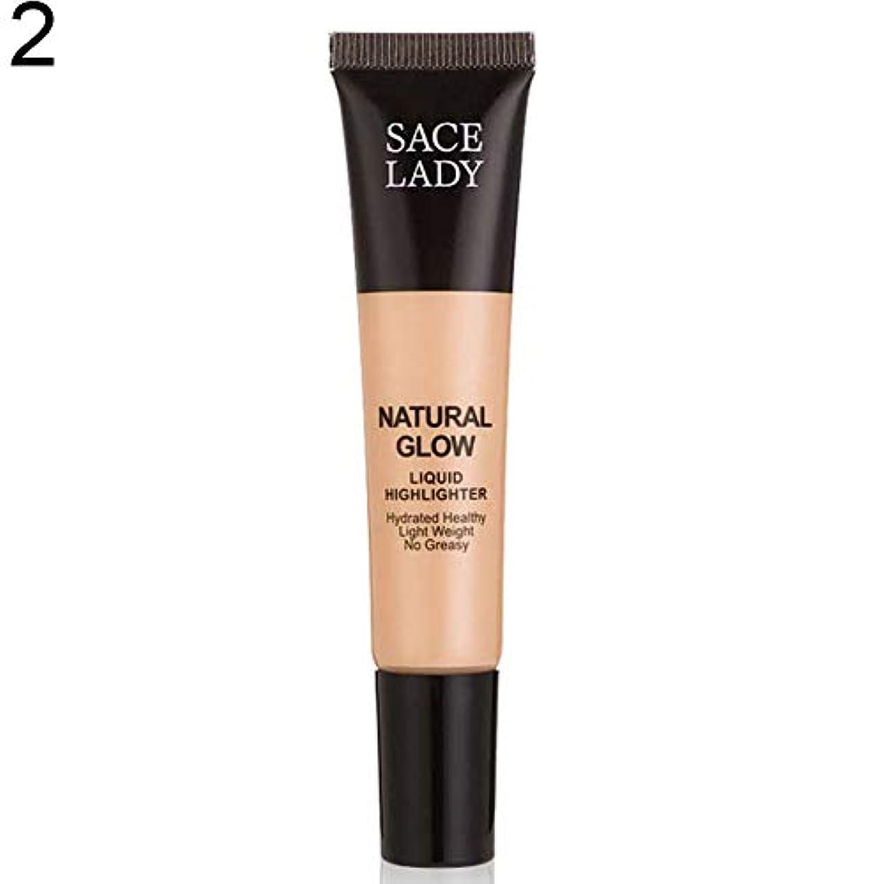 すぐに風が強い検閲SACE LADY液体蛍光ペン水和非脂っこい化粧顔ブロンザー - 2#
