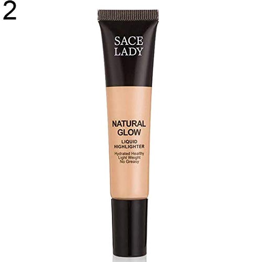 命令的ジャベスウィルソン生むSACE LADY液体蛍光ペン水和非脂っこい化粧顔ブロンザー - 2#
