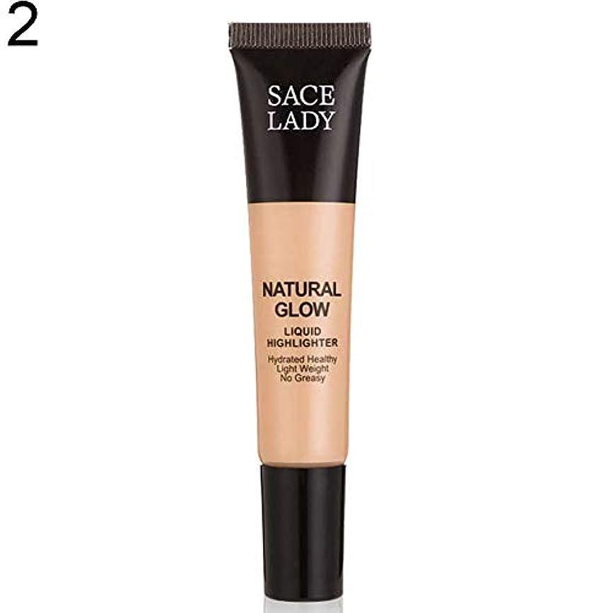 出くわす栄光腐ったSACE LADY液体蛍光ペン水和非脂っこい化粧顔ブロンザー - 2#