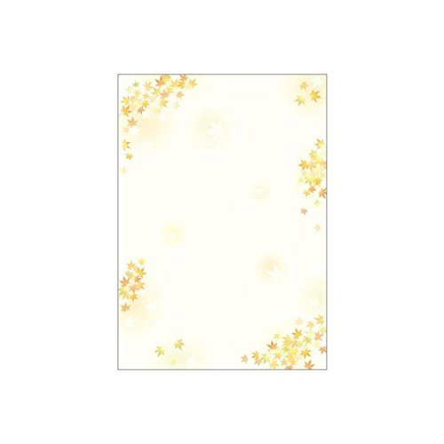 ササガワ [タカ印] OA対応和柄用紙 和ごころ A4 枝紅葉 4-1022 / 5冊