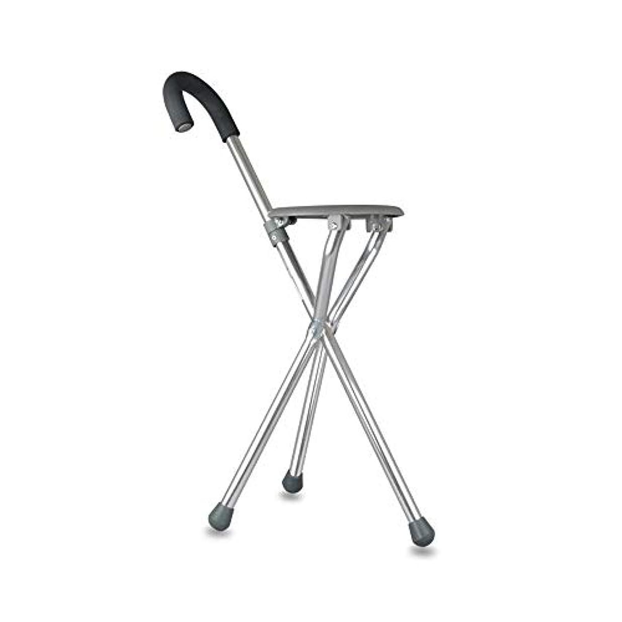 ドレススーツケースはちみつ高齢者用杖スツール-高齢者に適したステンレススチール製折りたたみ式ウォーカー、ツーインワン