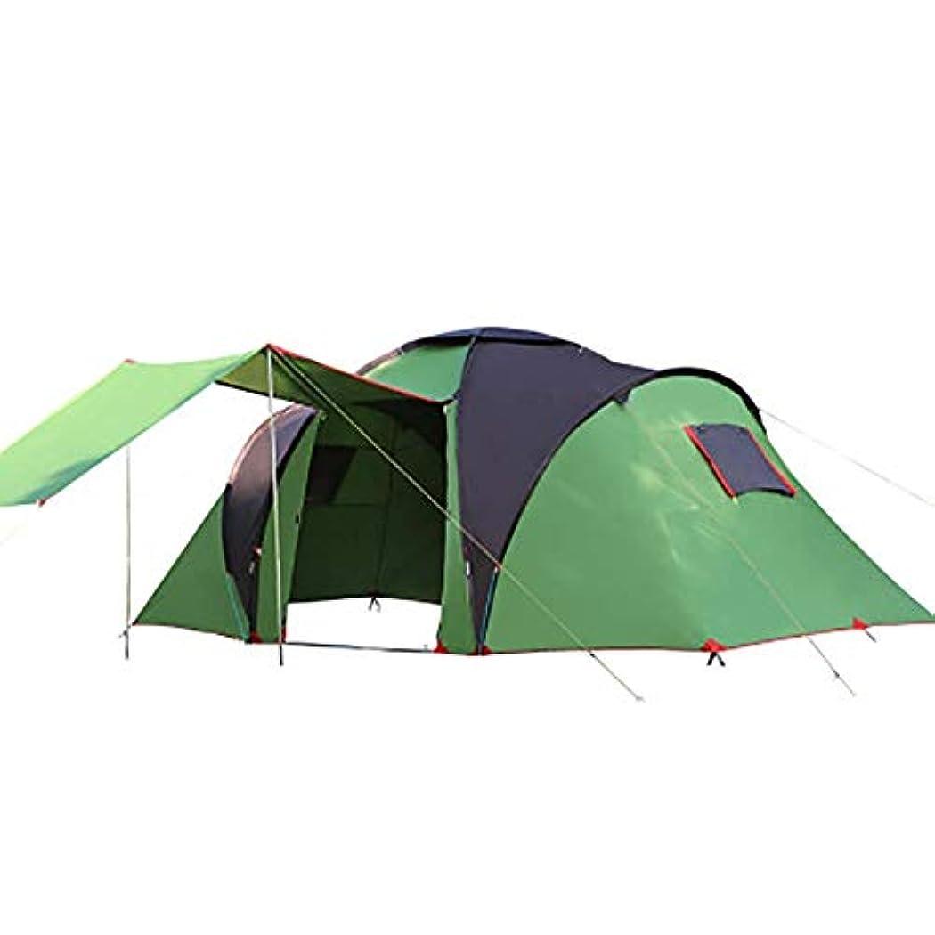 拒絶する役割気配りのあるアウトドアキャンプテント5-8人超軽量ポータブル折りたたみ日焼け止め防水友達と家族釣りツアービーチピクニックパーク芝生グリーン