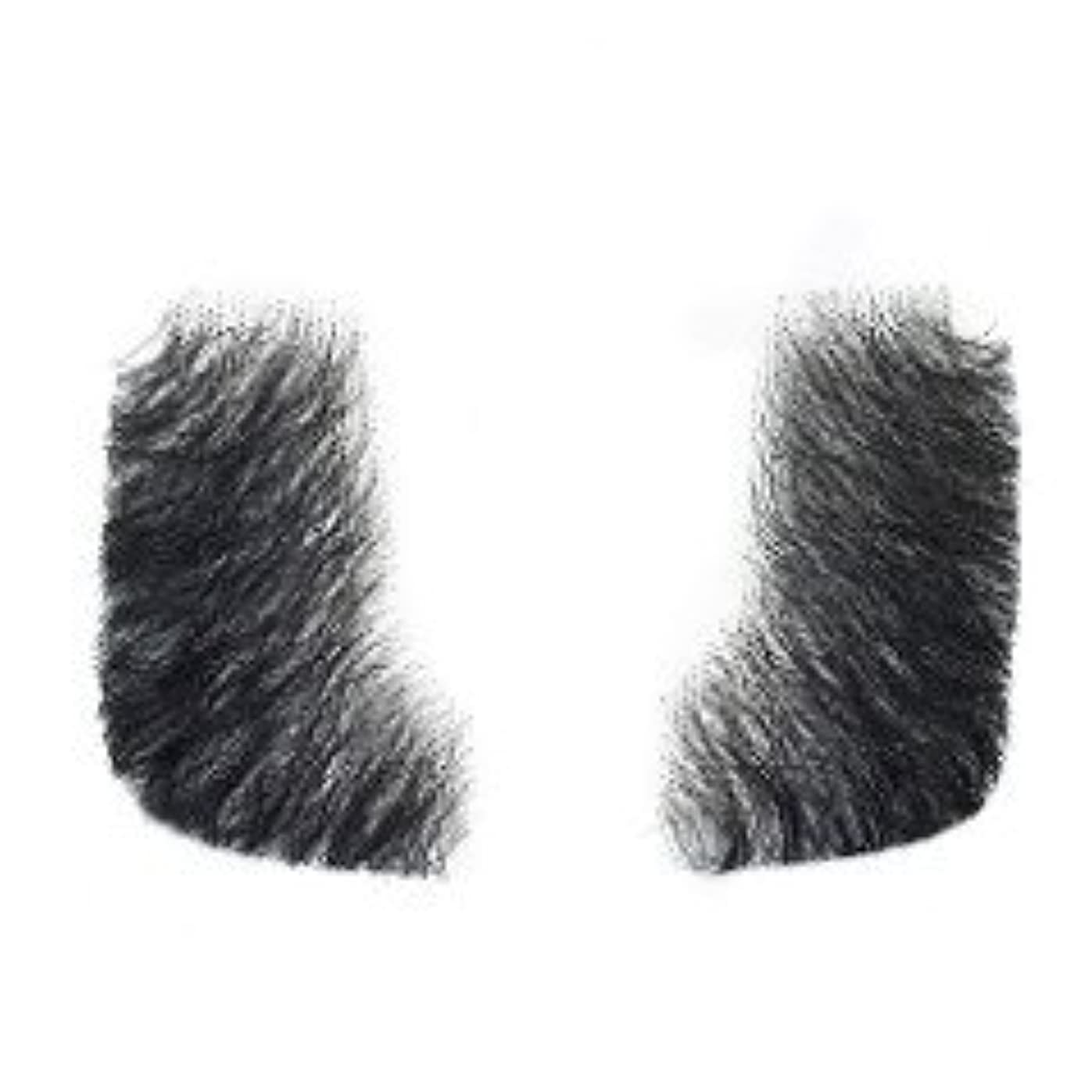 南アメリカ次器用Remeehi つけひげ ほほひげ ヒゲ 男性 人毛 仮装 メイクアップ コスプレ パーテイグッズ