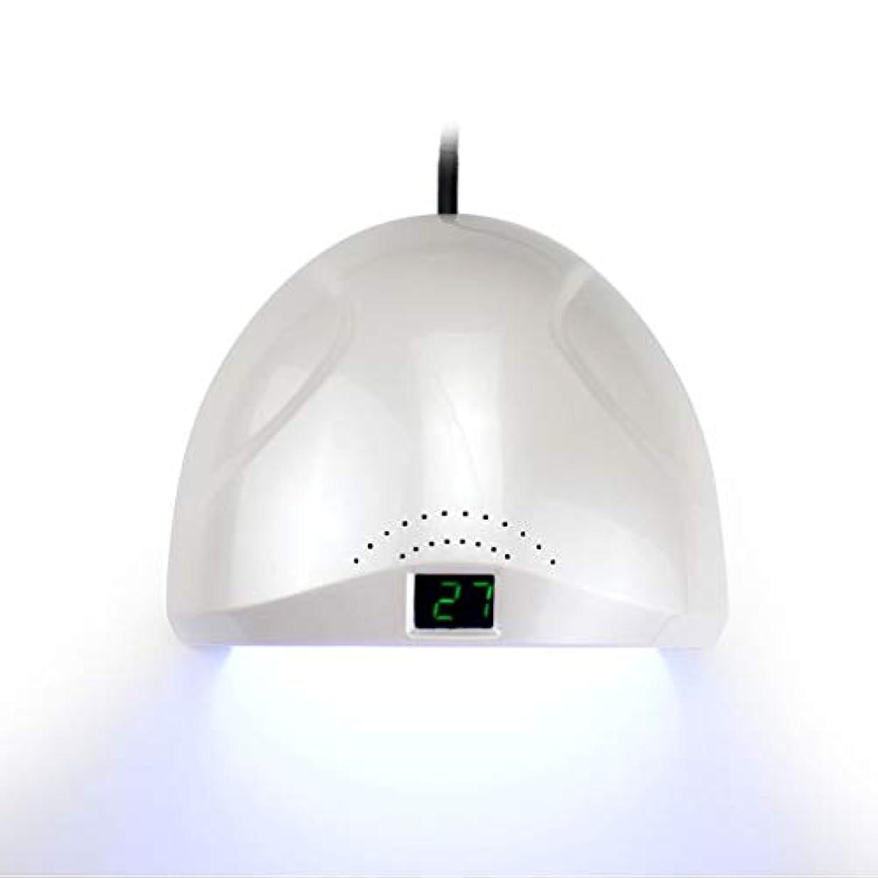 どれ父方の伝統2速硬化ネイルドライヤー、UV/LEDネイルライト、ネイルジェル硬化ライト、液晶ディスプレイ、ジェルネイル用、ネイルサロンツール、黒手なし