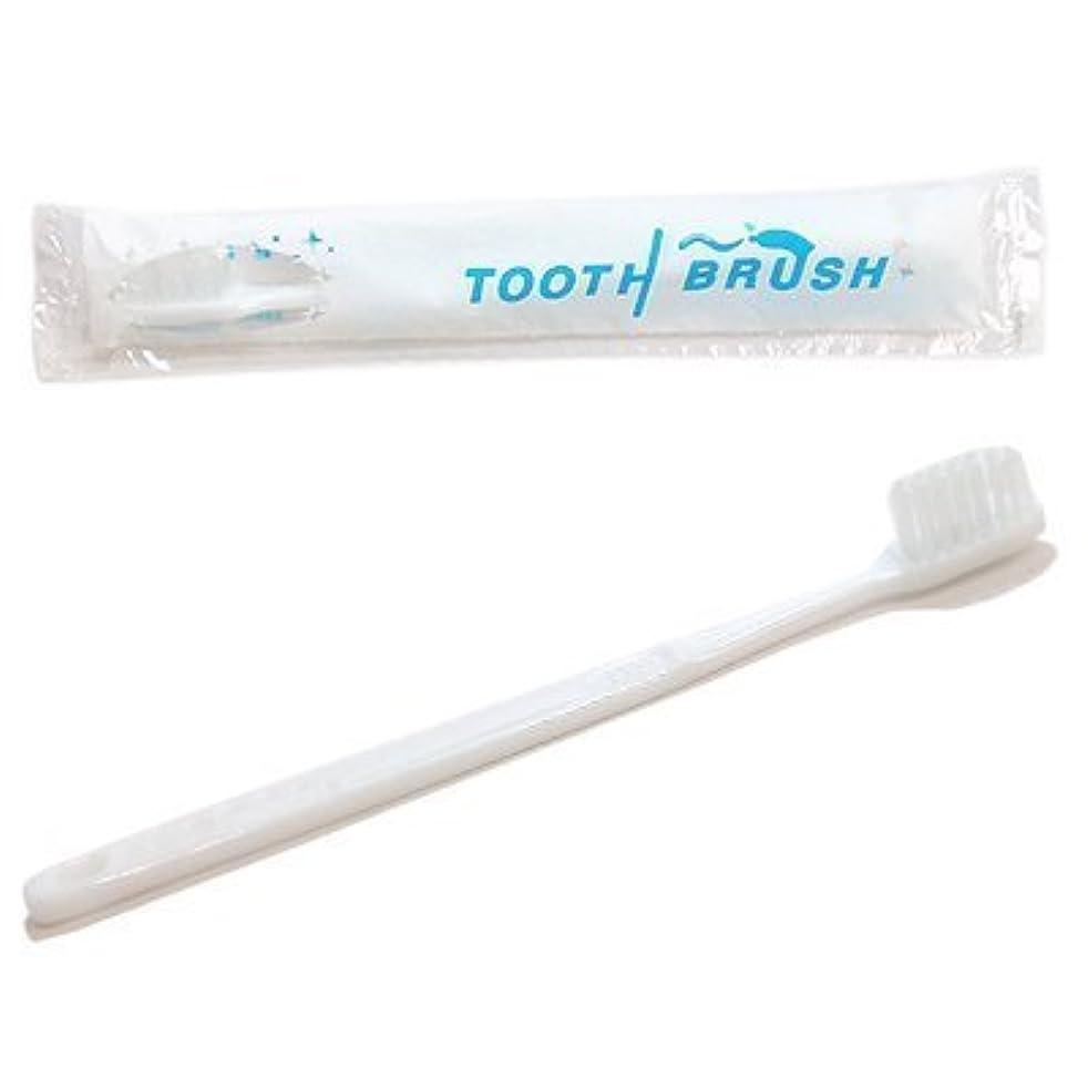 頑張るマオリ徐々に使い捨て 粉付き歯ブラシ
