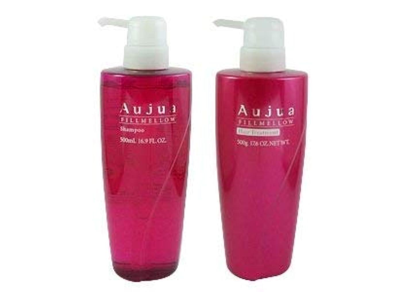 より良いロードされた和らげるミルボン(Aujua)オージュア フィルメロウ シャンプー&ヘアトリートメント 500ml期間限定アイズのまつげコーム付き(正規品)