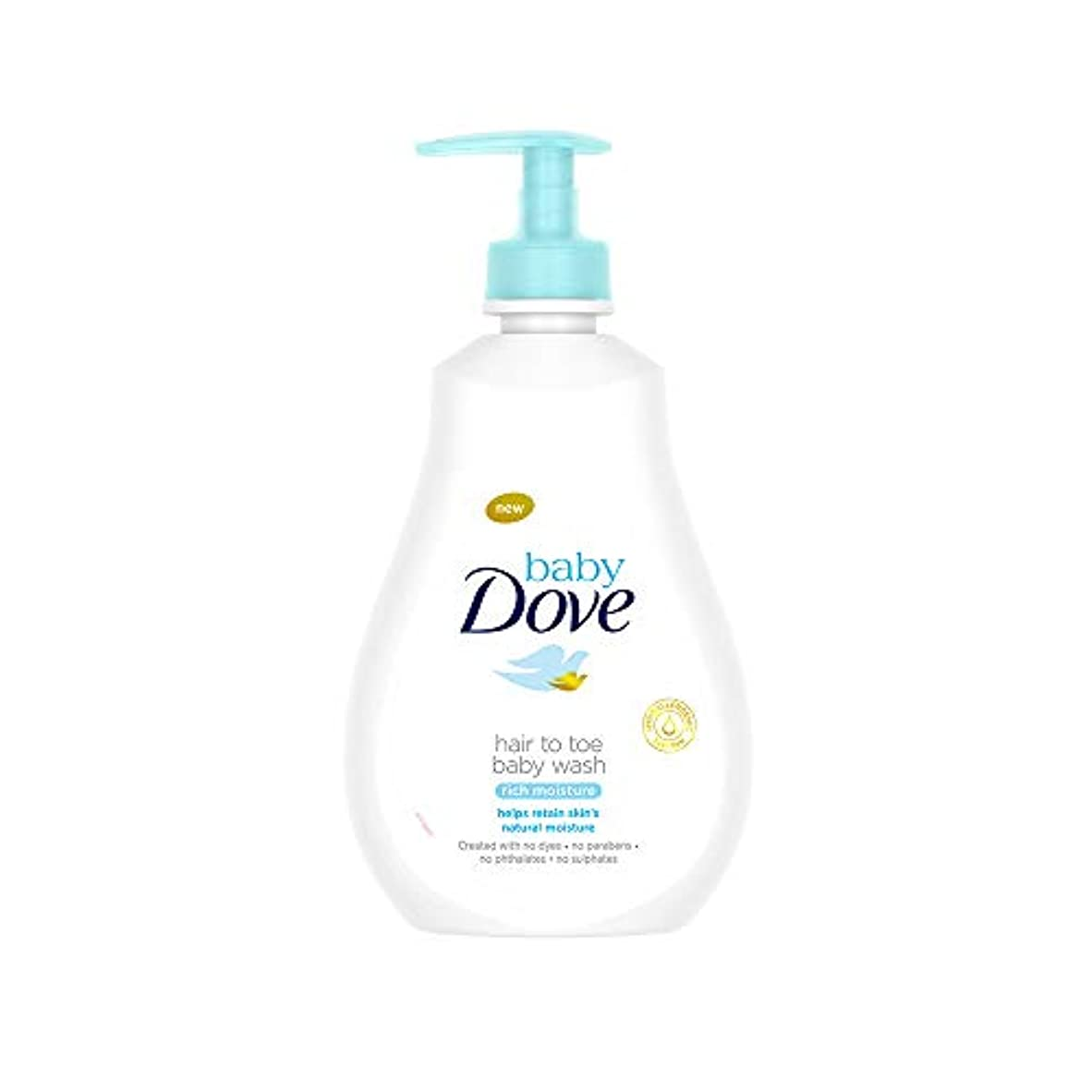 美容師尋ねる連隊Baby Dove Rich Moisture Hair to Toe Baby Wash, 400 ml