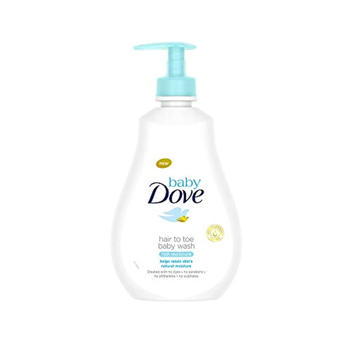 子供時代チャート伝導率Baby Dove Rich Moisture Hair to Toe Baby Wash, 400 ml
