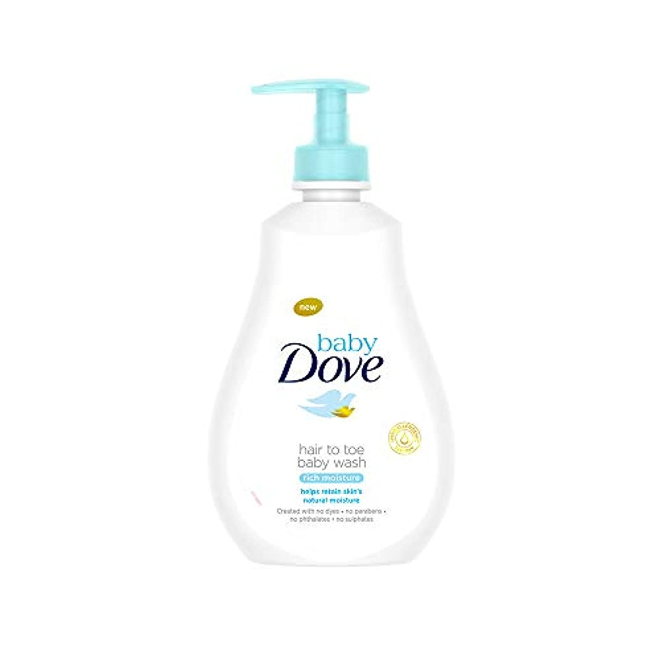 傑作リーチ個人Baby Dove Rich Moisture Hair to Toe Baby Wash, 400 ml