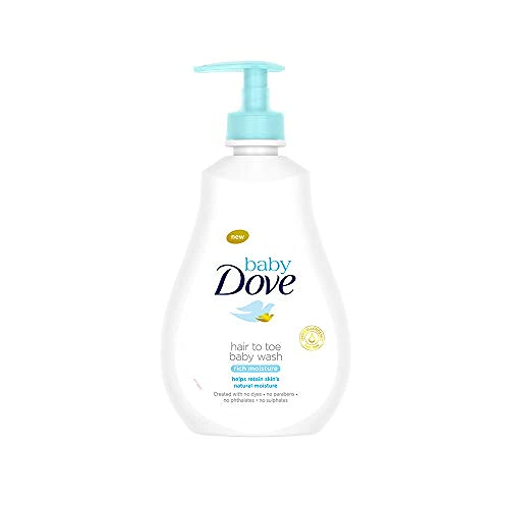 音楽家権利を与えるハシーBaby Dove Rich Moisture Hair to Toe Baby Wash, 400 ml