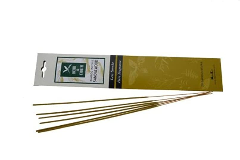 観点瞬時に好むSandalwood - Herb and Earth Incense From Nippon Kodo - 20 Stick Package by Herb & Earth [並行輸入品]