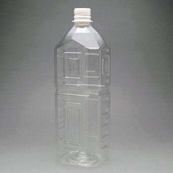 ペットボトル容器・角【1L×50本】1箱28mmキャップ付き