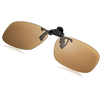 SWANS(スワンズ) 日本製 偏光 サングラス メガネにつける クリップオン 跳ね上げタイプ SCP-23_BR BR 偏光ブラウン