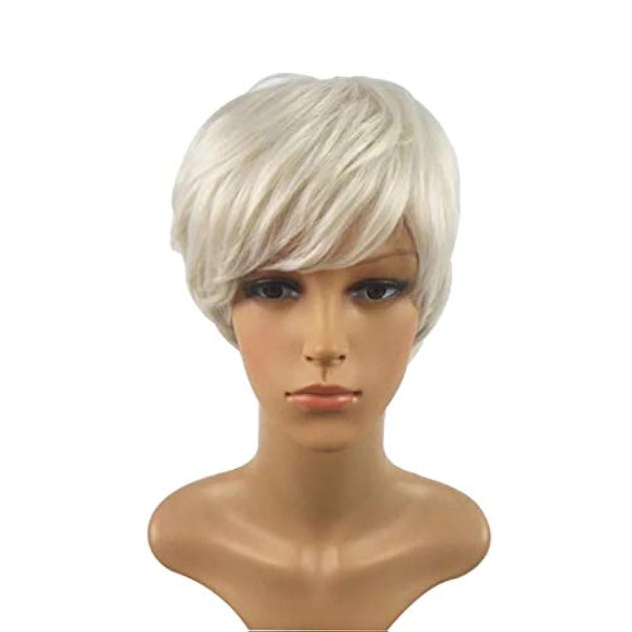 ベアリングエンドウ上げるKerwinner 短い巻き毛のかつら髪かつら女性のための自然な耐熱フルウィッグ
