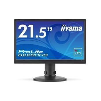 iiyama 21.5型ワイド液晶ディスプレイ ProLite B2280HS (LED/昇降/ピボット)マーベルブラック B2280HS-B1