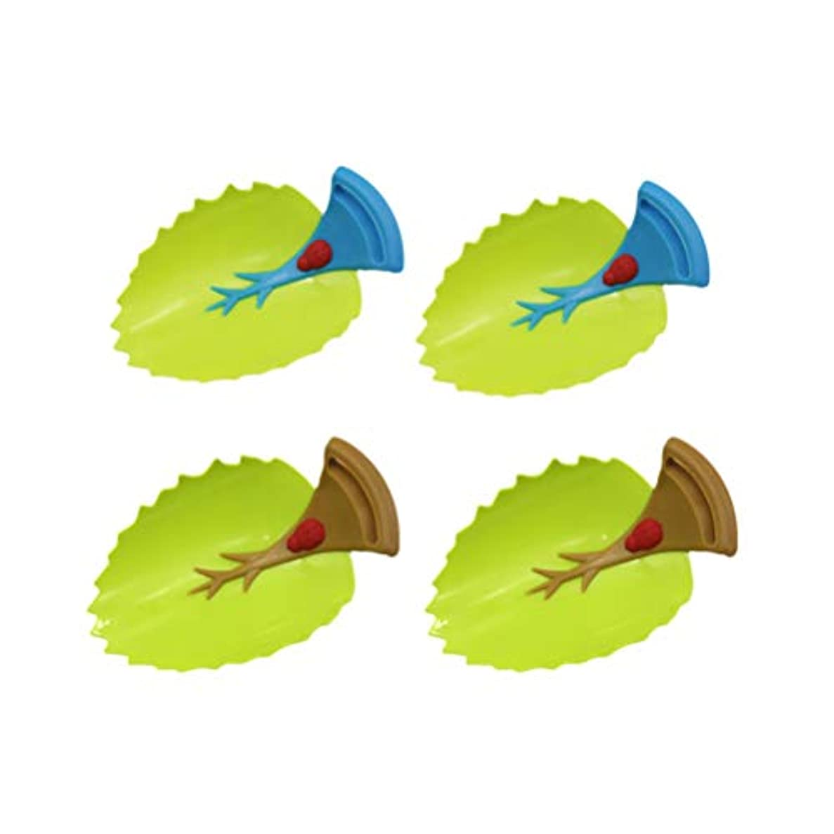 ポルノ最愛の吸収剤Toyvian 子供4本のための蛇口エクステンダリーフデザイン手洗い水道水ガイドツール
