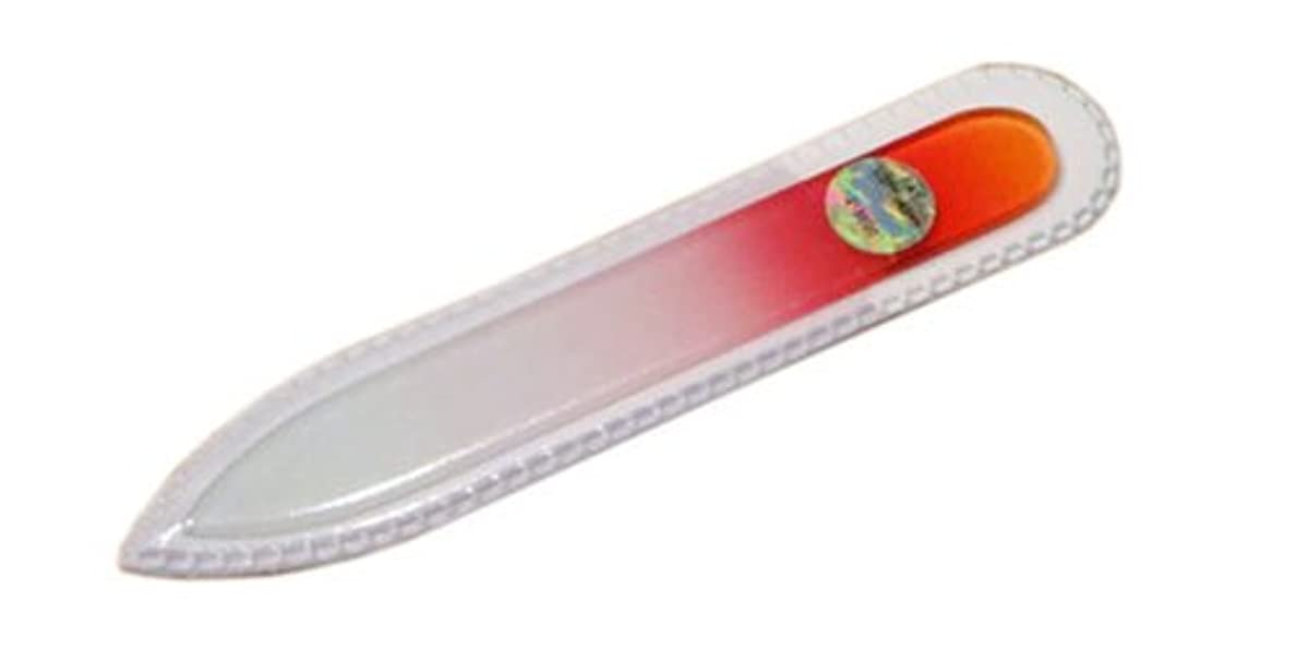 高さ要塞株式ブラジェク ガラス爪やすり 90mm 両面タイプ(オレンジグラデーション #01)