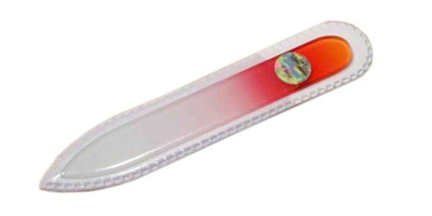 診断する仲人セーターブラジェク ガラス爪やすり 90mm 両面タイプ(オレンジグラデーション #01)
