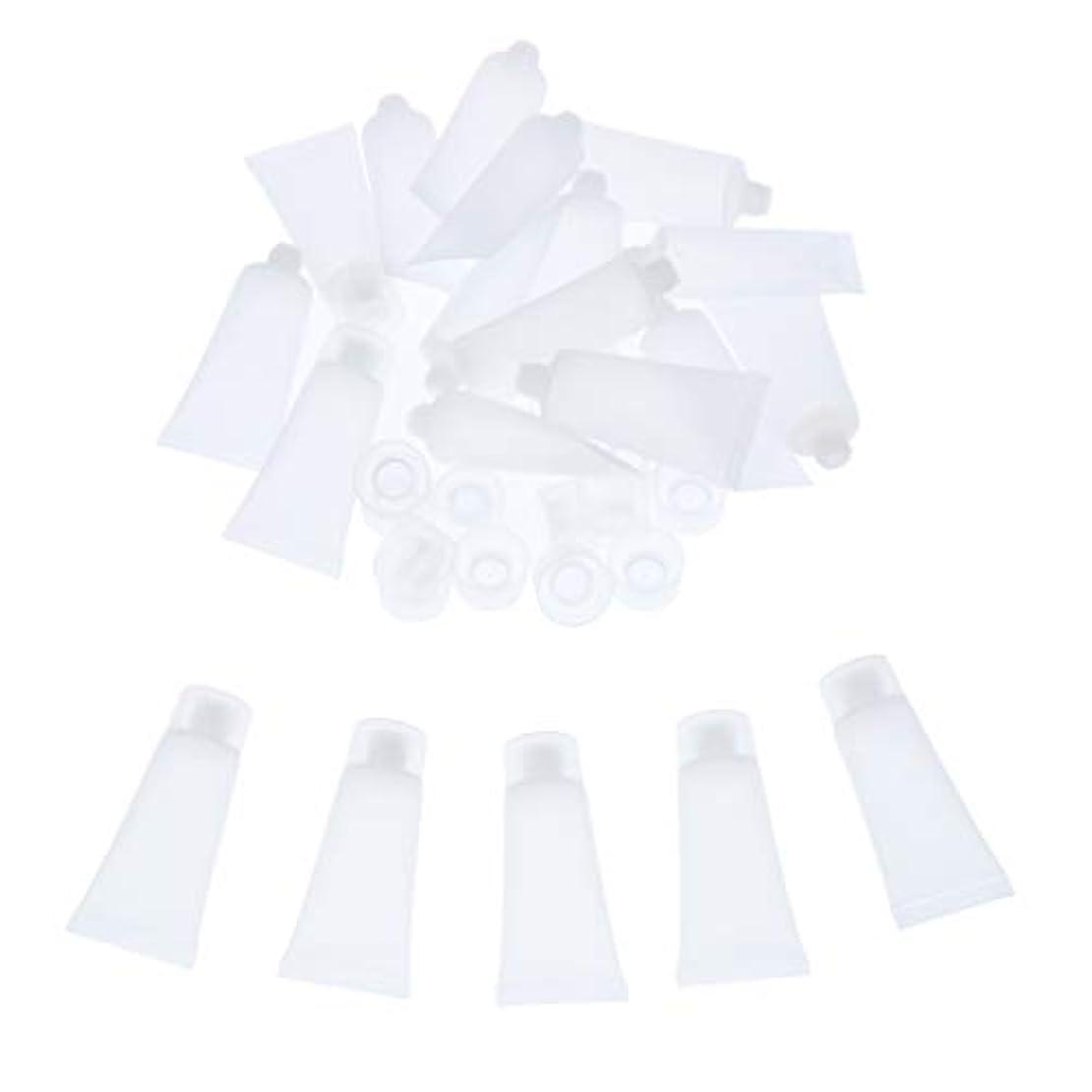 ブロンズバスタブ農学クリーム チューブ 詰め替え ローション チューブ プラスチック素材 約20個入り 全4サイズ - 20ml