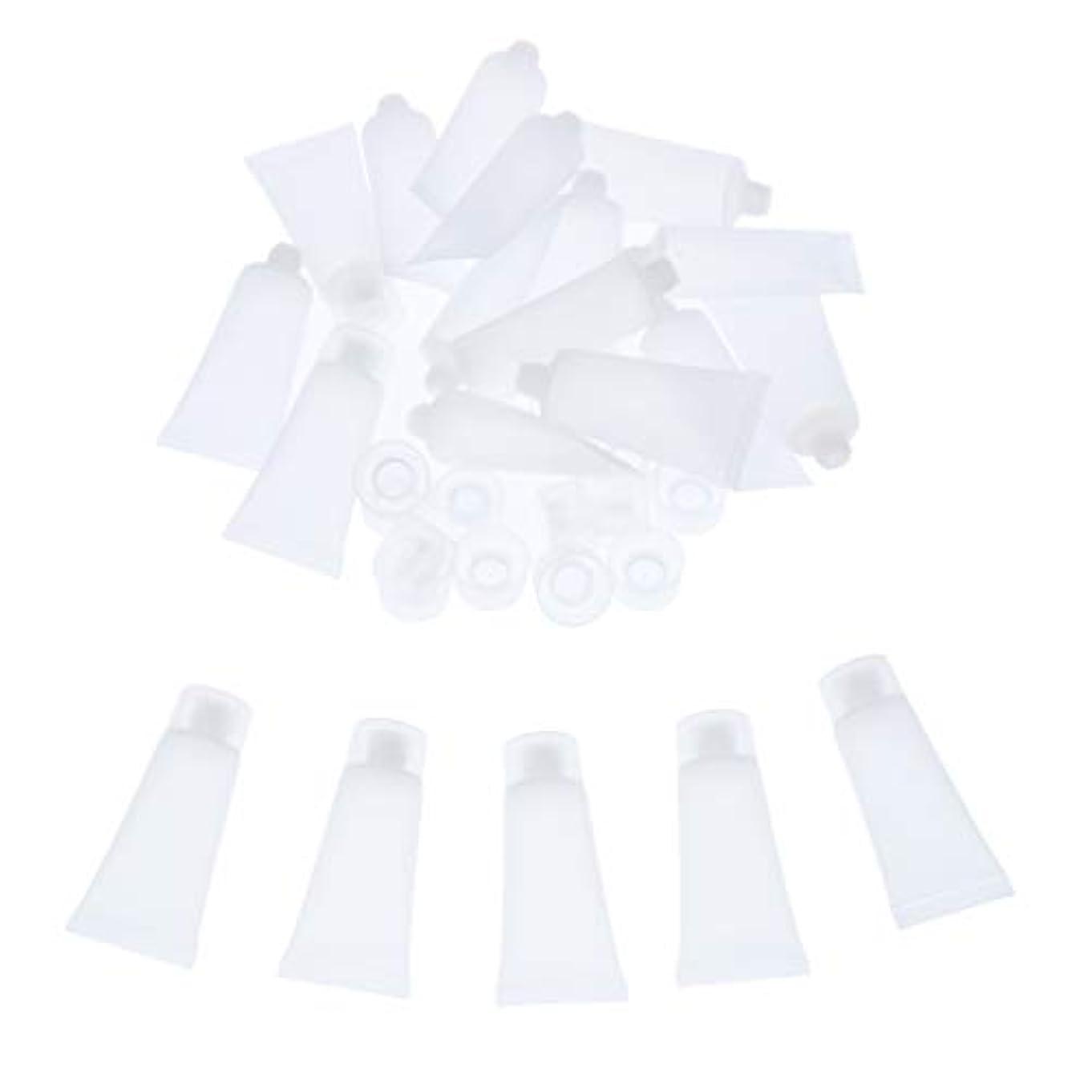 時代鉛振る舞いクリーム チューブ 詰め替え ローション チューブ プラスチック素材 約20個入り 全4サイズ - 20ml