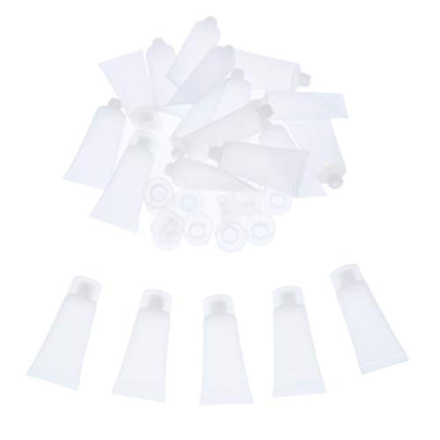 拍手影響リネンクリーム チューブ 詰め替え ローション チューブ プラスチック素材 約20個入り 全4サイズ - 20ml