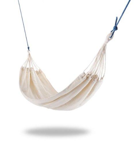 RoomClip商品情報 - Tortola ノーティカル屋外ガーデンハンモック(サポートロープとキャリーバッグ付き) (白い) -  OL0210