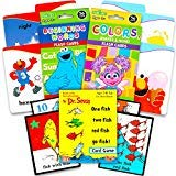 Sesame Street First Words Flash Cards for Toddlers Set -- Beginning Words, Colours and Dr. Seuss One Fish Two Fish Numbers Card Game (Learning Toys)
